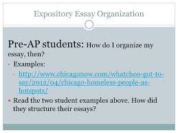 expository writing writing unit ppt video online  expository essay organization