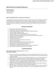 resume of administrative assistant sample  seangarrette coresume