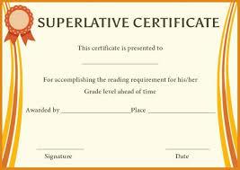 Superlative Certificate Superlative Award Certificate Templates Superlative Certificate
