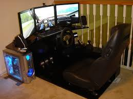 posh car seat equipped computer gaming desk with sound system
