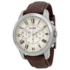 fossil grant chronograph egg shell dial men s watch fs4735 grant fossil grant chronograph egg shell dial men s watch fs4735