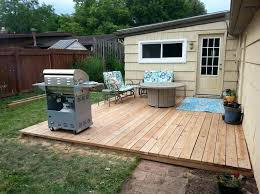 picture of step 5 finishing touches diy floating deck cost