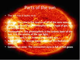 parts of the sun sun ppt video online download