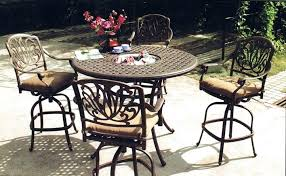 outdoor bar height table and chairs bar height patio table and chairs patio furniture bar height table set