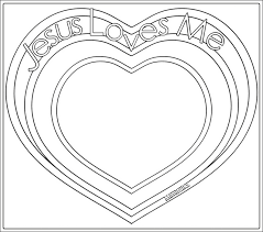 Jesus Loves Me Coloring Page Free Download