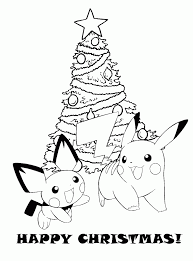 Small Picture Coloring Pages Printable Pokemon Christmas Coloring Pages Pokemon