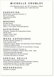 Example Of College Resume Template Magnificent Resume Template Good Resume Templates For College Students Sample