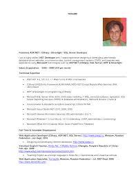 Remarkable Resume For Sql Developer Fresher For Sql Developer