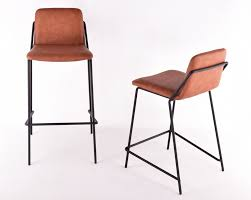 sling bar stool leather