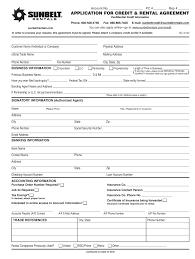 Rental Credit Application Sunbelt Rentals Credit Application Fill Online Printable