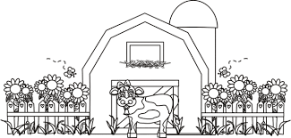 Useful Pictures Of Barn Coloring Pages Proper Intended For Kids And