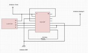 arduino load cell scale 4 steps picture of the amplifier