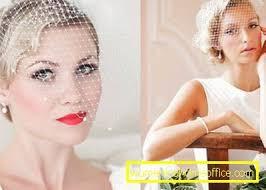 Svadobný účes Pre Krátke Vlasy Varianty So Závojmi A Bez ženský