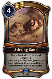 Sand Card Stirring Sand Eternal Card Game Wikia Fandom Powered By Wikia