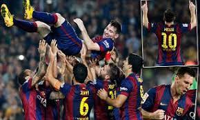 Barcelona 5 1 Sevilla Lionel Messi Breaks Telmo Zarras All