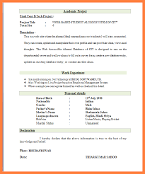 Resume Format For Freshers Computer Engineers Pdf