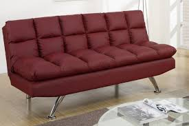 sofa bed red leather images