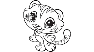 Small Picture Learning Friends Tiger coloring printable