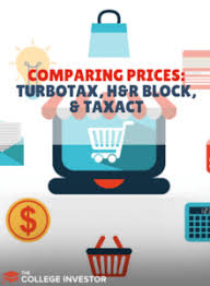 Turbotax Comparison Chart 2017 Comparing Prices Of Turbotax H R Block And Taxact 2019