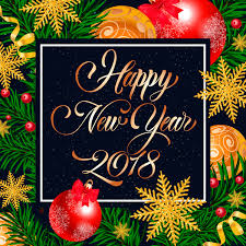 background new 2018 new year frame with background vector free