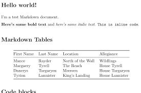 markdown as pdf