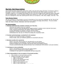 Barista Duties Resume Best Of Sample Barista Resume Barista ...