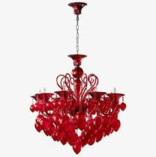 red chandelier chandelier lamps red png image and clipart