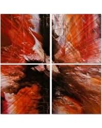 all my walls 0130me00014 water heat sqi metal wall art orange red  on red and brown metal wall art with hot summer bargains on all my walls 0130me00014 water heat sqi