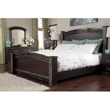 ashley traditional bedroom furniture. Contemporary Furniture Ashley Traditional Design Vachel Dark Brown King Size Poster Panel Bed  Bedroom Furniture 2 Throughout S