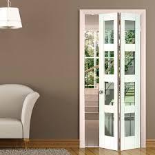 JB Kind Cayman White Primed Bifold Door - Clear Safety Glass.  #glazedbifolddoors #jbkfoldingdoors