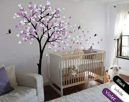 tree wall decal modern baby nursery