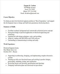 Entry Level Resume Template Free Entry Level Electrical Engineer Resume Templates 30 Modern