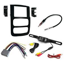 car cd stereo receiver dash install mounting kit wire harness car cd stereo receiver dash install mounting kit wire harness radio antenna adapter rear view