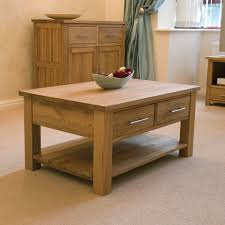 Storage Living Room Furniture Eton Solid Oak Living Room Lounge Furniture Storage Coffee Table