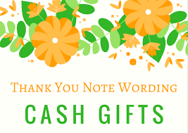 money cash gift thank you notes