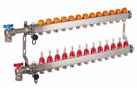 Klemmleiste stellantriebe fußbodenheizung verteiler regelleiste stellantrieb kategorie: Heizkreisverteiler Mit Automatischer Durchflussregelung Fur 13 Kreise Pefra Regeltechnik