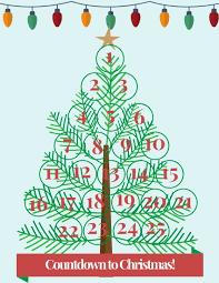 Printable Christmas Tree Countdown To Christmas Free Printable Christmas Tree