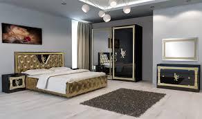 Schlafzimmer Lux In Schwarz Gold Im Eleganten Design Kaufen Bei
