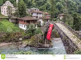 Historische Osmanebrücke In Einem Dorf In Rize-Stadt Am Ostende Von Der  Türkei Redaktionelles Stockfotografie - Bild von haus, struktur: 84906837