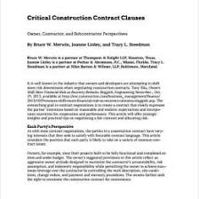 Sample Construction Contract New Home Construction Contract Template 305117585016 Free Sample