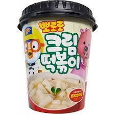Pororo Tteokbokki Cream Sauce Instant Cup Rice Cake Stir Fried
