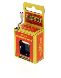 kikkerland music box what a wonderful world  music  games
