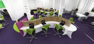 funky office designs. funky 2d office refurbishment design for family mosaic in london designs