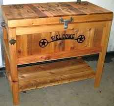 image of rustic ice chest cooler plans wooden box building a coolers for pallet holder