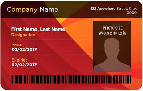 Blank Id Card Template Interesting Company Id Card Template Badge For Ms Word Corporate Employee Psd