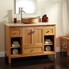 Single Vessel Sink Bathroom Vanity Home Bathroom 48 Alcott Bamboo Vessel Sink Vanity 48