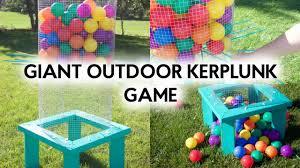 Diy Outdoor Games Diy Giant Outdoor Kerplunk Game Outdoor Games Youtube