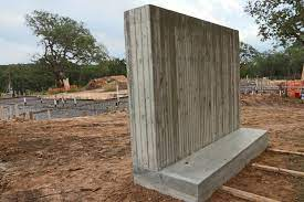 building with board form concrete