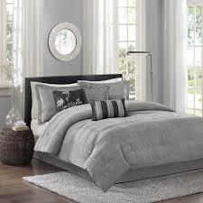 7 piece comforter set queen grey
