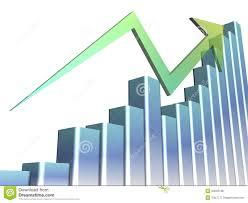 Chart Progress A 3d Bar Chart Showing Progress Stock Illustration